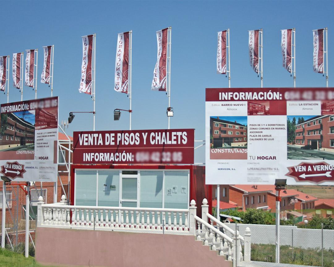 Publicidad para promoción inmobiliaria: LORACONSTRU