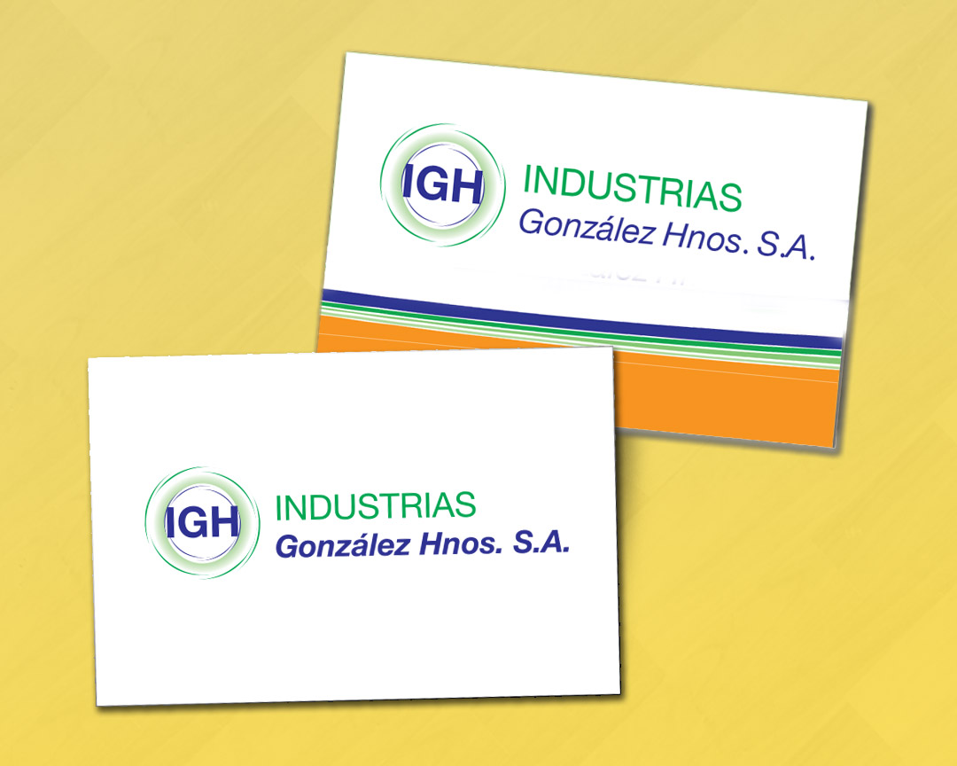 Diseño de logotipo para empresa industrial IGH