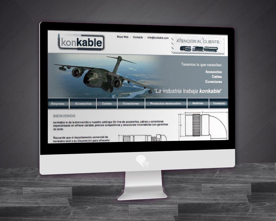 Diseño web para konkable