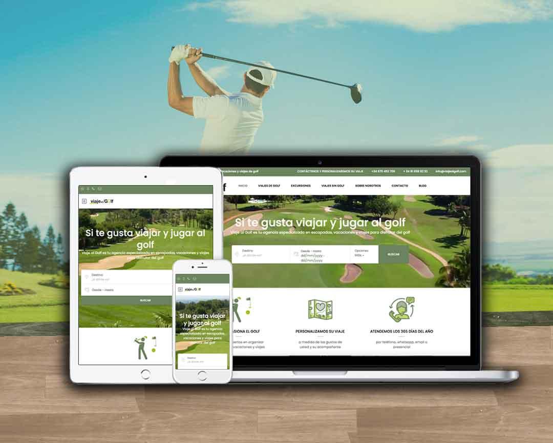 web responsive para agencia de viajes especializada en golf