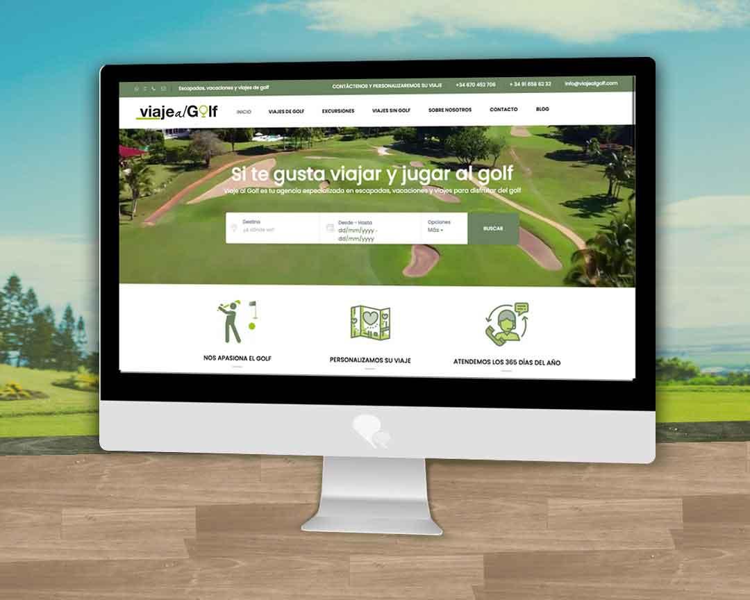 Página web para agencia de viajes especializada en golf