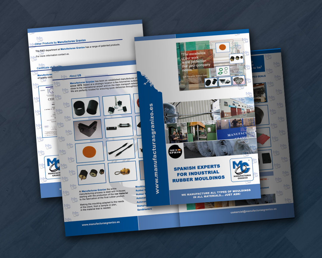 Diseño de catálogo para empresa industrial MG