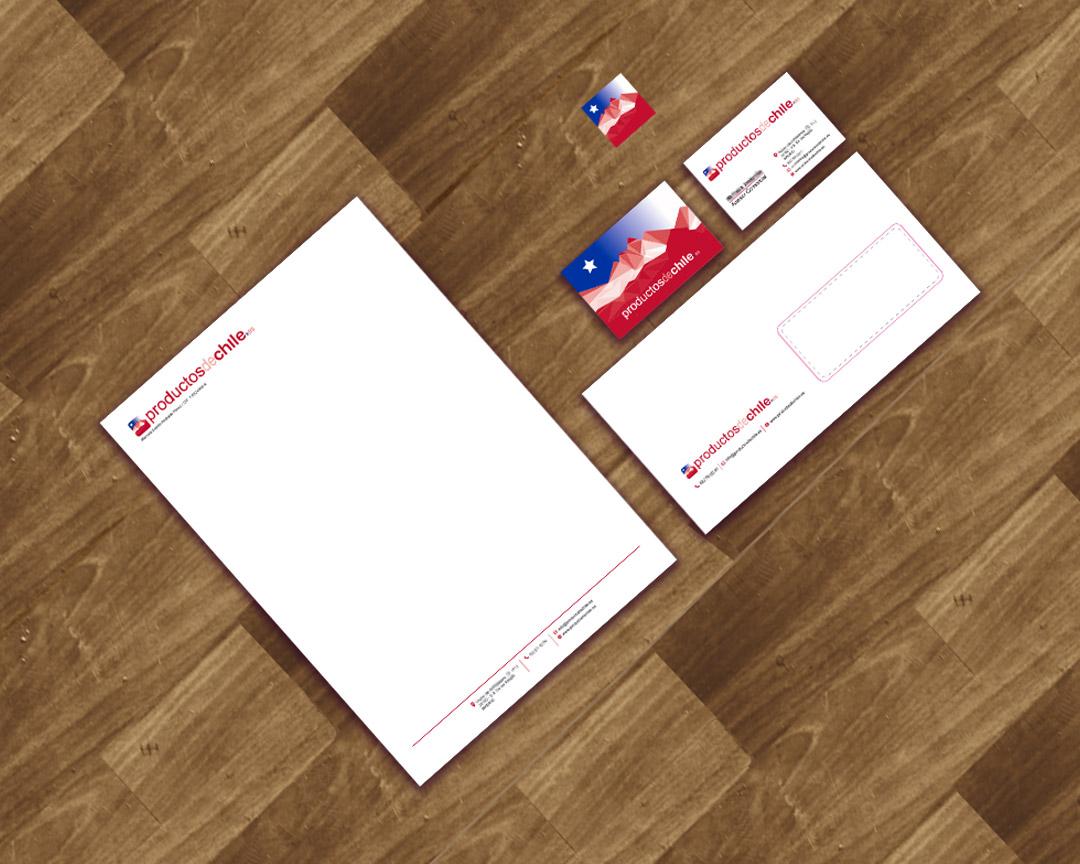 Diseño de identidad corporativa Productos de Chile.