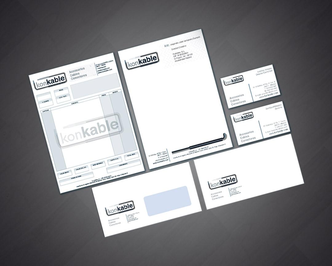 Diseño de identidad corporativa para konkable