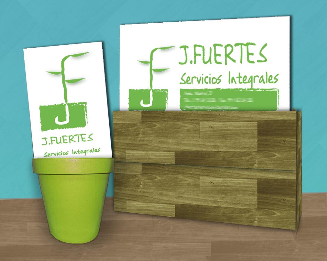 Logotipo empresa de jardinería: J Fuertes