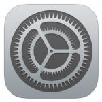 icono ajustes de iPhone o iPad