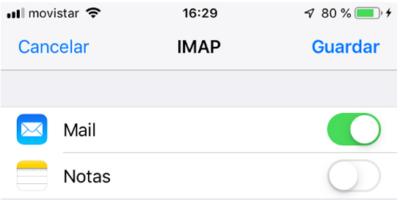 Guardar cuneta de email en iPhone o iPad