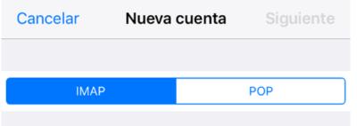 Configrar correo IMAP en iPhone o iPad